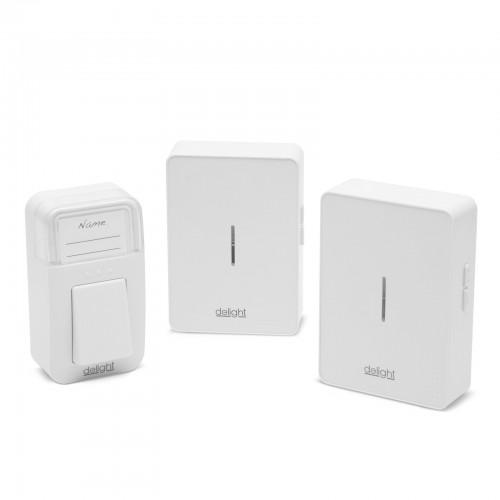 Sonerie Kinetic Wireless fara fir si fara baterie cu doua posturi, Delight