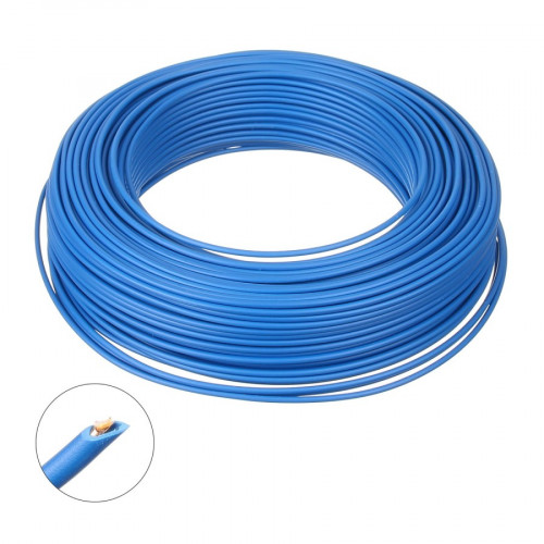 Conductor electric FY 6 colac 100M, Cupru, Albastru