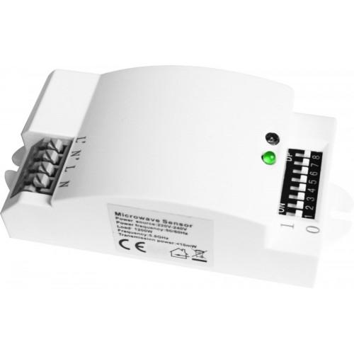 Senzor de prezenta cu microunde 360 de grade IP20, Alb, Total Green