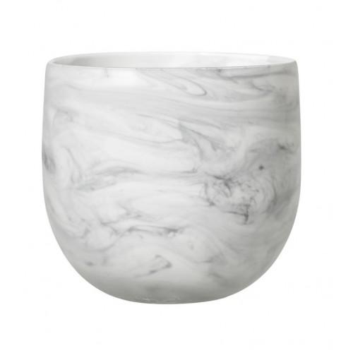 Ghiveci din sticla H15 cm, Alb, Bloomingville 32120409