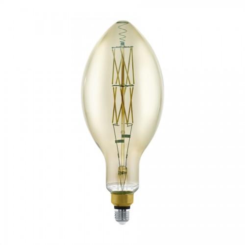 Bec LED decorativ 8W fumuriu E27, lumina calda, Eglo 11843