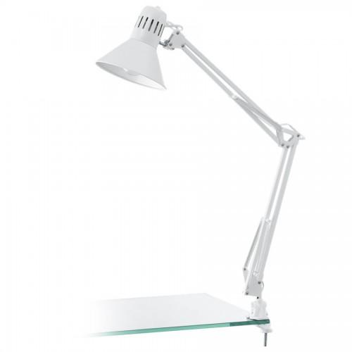 Lampa de birou cu clips Firmo, Eglo, Alb, 90872