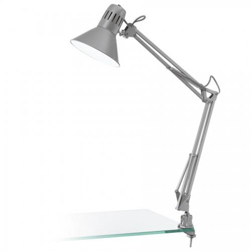 Lampa de birou cu clips Firmo, Eglo, Argintiu, 90874
