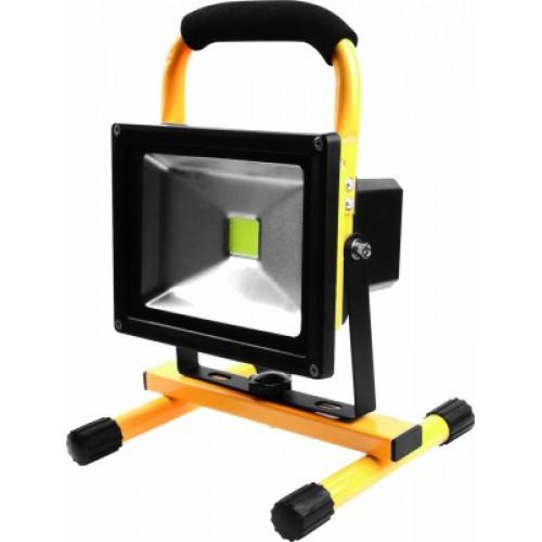 Proiector LED 20W cu maner 12v Auto, Galben negru, Total Green