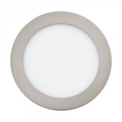 Spot LED incastrat Fueva, Eglo, Nichel, 31671