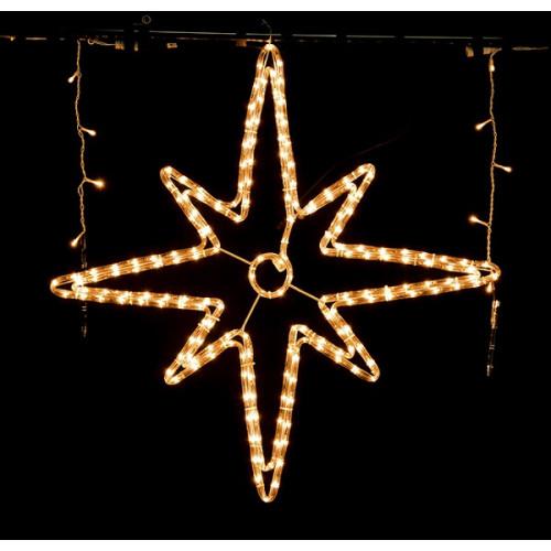 Instalatie craciun stea, Erste, lumina calda