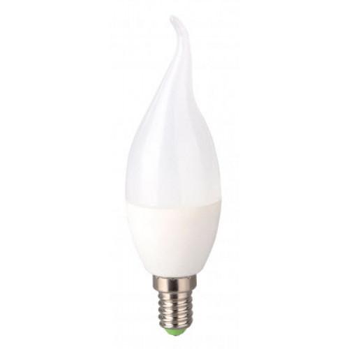 Bec LED 5W E14 lumanare flacara Evo17, lumina alb cald, Total Green