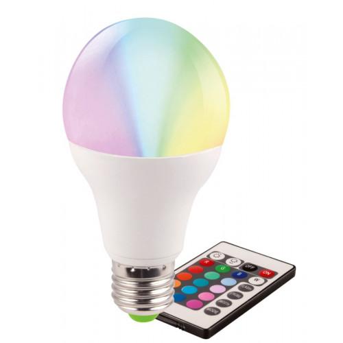 Bec LED Evo17 A60 5W E27 cu telecomanda, multicolor, Total Green