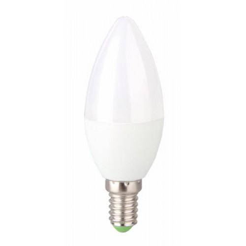 Bec LED 6W E14 lumanare Evo17, lumina alb cald, Total Green