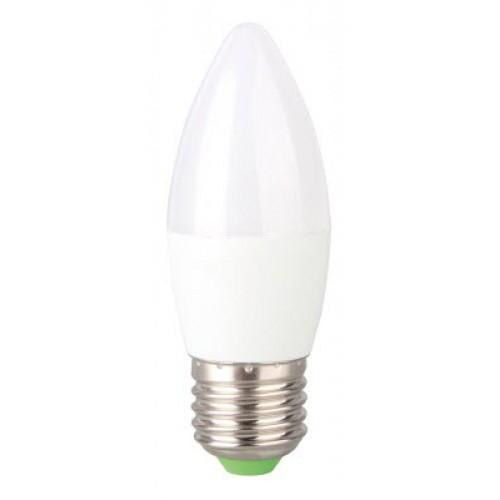 Bec LED 6W E27 lumanare Evo17, lumina alb cald, Total Green