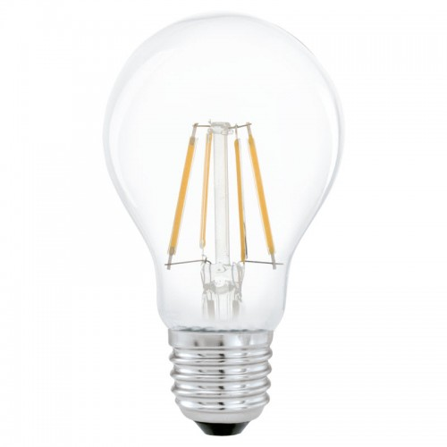 Bec LED transparent 4W A60 E27, lumina alb cald, Eglo 11491
