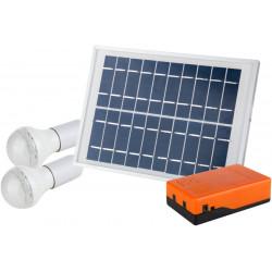 Kit iluminare LED incarcare solara si 2 becuri, Evotools