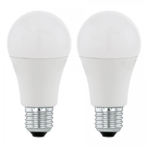 Set 2 becuri LED 12W A60 E27, lumina alb cald, Eglo 11484