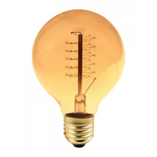 Bec decorativ balon mare Edison G80 60W E27, lumina alb cald, 23AK Total Green