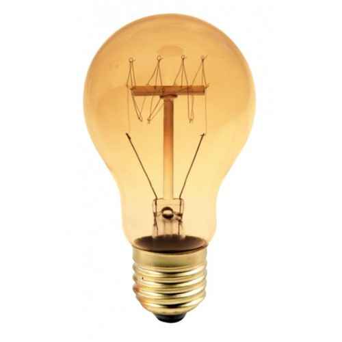 Bec decorativ Edison A19 E27 60W, lumina alb cald, 15AK Total Green