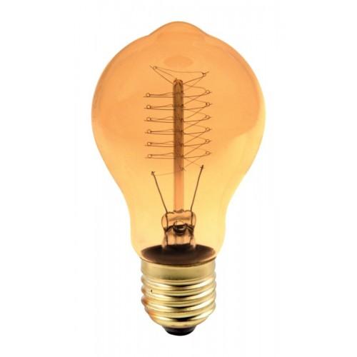 Bec decorativ Edison A19 E27 60W, lumina alb cald, 28AK Total Green