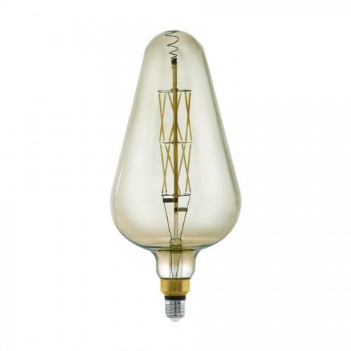 Bec LED decorativ 8W fumuriu E27, lumina calda, Eglo 11842
