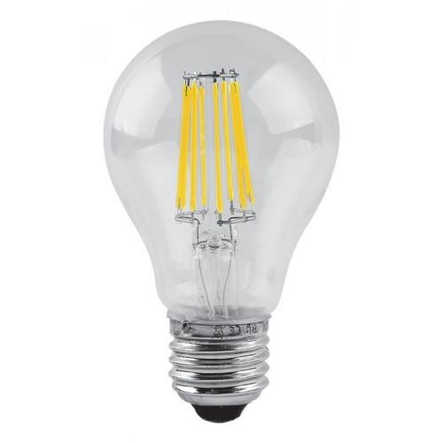 Bec LED decorativ 8W A60 E27, lumina alb cald, Total Green