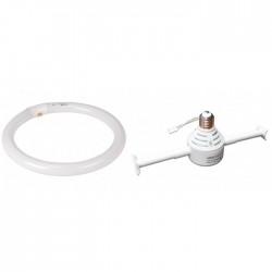 Adaptor Tub Neon Circular 32W T9 E27 + Tub Fluorescent Circular 32W Novelite