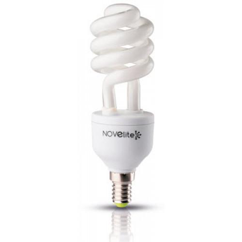Bec economic spirala 11W E14, lumina alb rece, Novelite