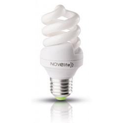 Bec economic spirala 11W E27, lumina alb rece, Novelite